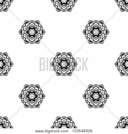 Vector seamless pattern. Repeating geometric. Gray Color Seamless pattern.