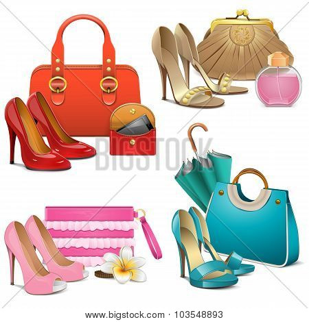 Vector Fashion Accessories Set