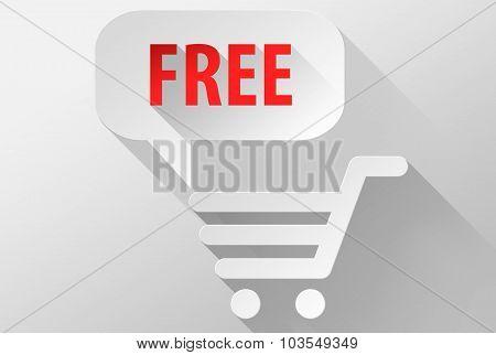 Free Shopping Widget And Icon 3D Illustration Flat Design