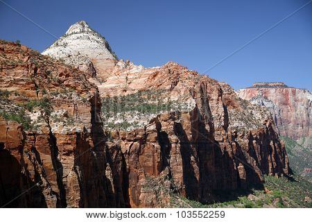 Rock And Valley In Zion National Park, Utah, Usa