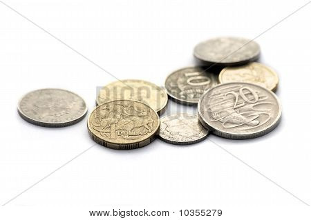 Australian Coins Isolated On White
