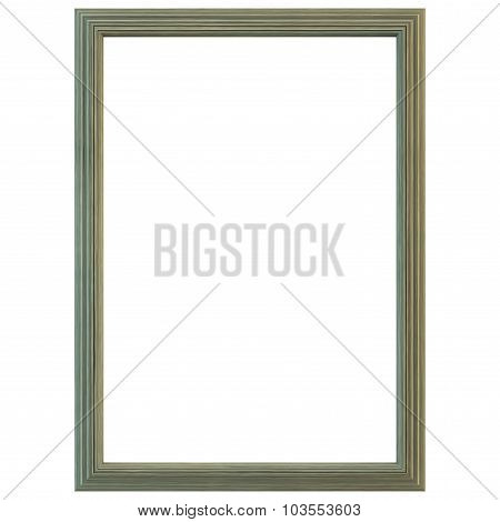 Old Green Wood Frame Isolated.