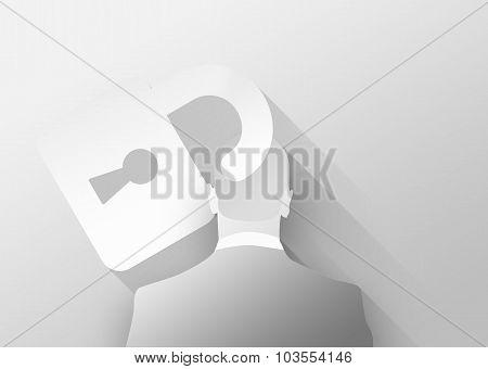 Restrictions In Business Concept 3D Illustration Flat Design