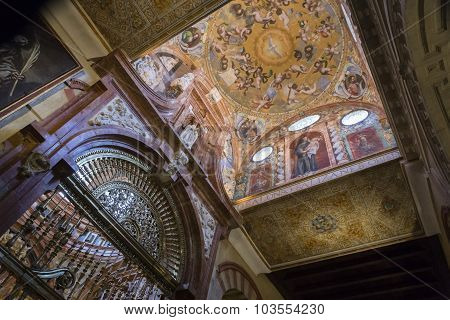 Detail Of Roof Of The Christian Part Of The Mezquita Cathedral Of Cordoba, Cordoba, Spain