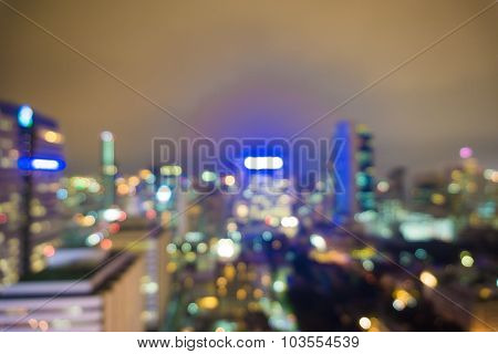 City At Night Blur Image