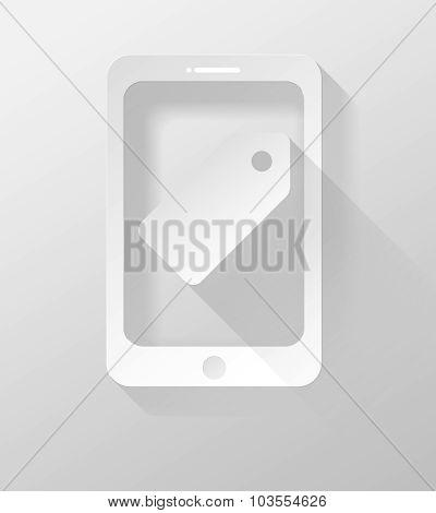 Smartphone Or Tablet Icon And Widget 3D Illustration Flat Design