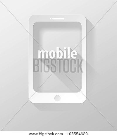 Smartphone Or Tablet Mobile Icon And Widget 3D Illustration Flat Design