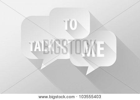 Talk To Me On Bubble Speech Icon And Widget 3D Illustration Flat Design