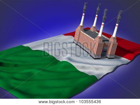 national heavy industry concept - Italian theme