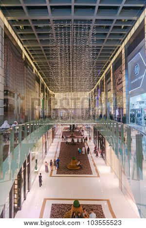 Beautiful And Luxurious Interior Of A Major Shopping Mall In Downtown Dubai.