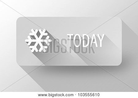 Today Snowy Weather Widget And Icon Flat Design