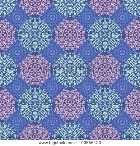 Vector Seamless Pattern With Elegant Tracery Ornaments