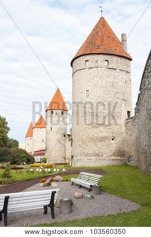 Park In The Old Town Of Tallinn, Estonia