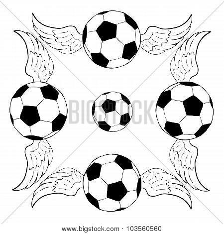 Frame from soccerballs