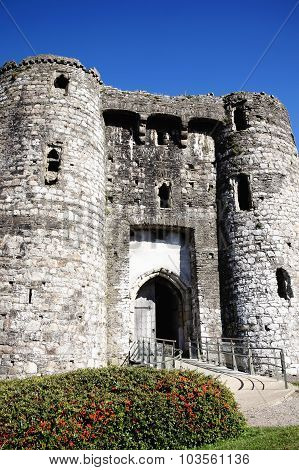 Kidwelly Castle gatehouse, Carmarthenshire, Wales