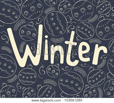 Winter background with curls