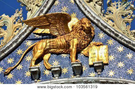 Venice Winged Lion Of Saint Mark Basilica