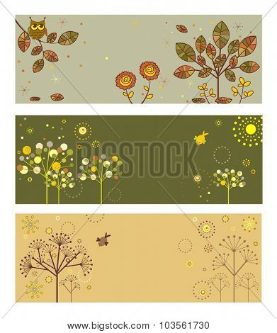 Abstract autumnal banners