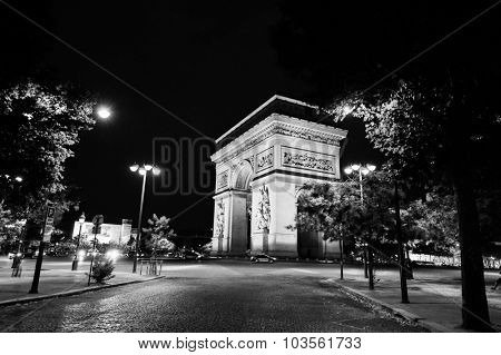 PARIS, FRANCE - AUGUST 09, 2015: Paris at night. Paris, aka City of Love, is a popular travel destination and a major city in Europe