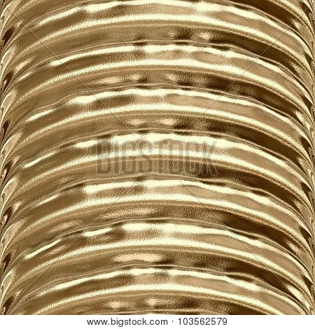 Gold Tube Plastic Seamless Pattern Texture