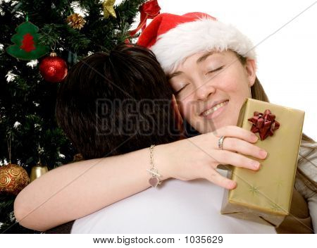 Couple At Christmas Time