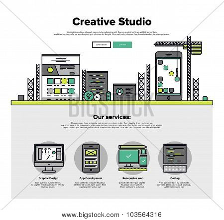 Creative Studio Flat Line Web Graphics