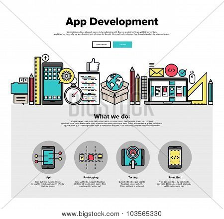 App Development Flat Line Web Graphics