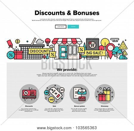 Shopping Discounts Flat Line Web Graphics
