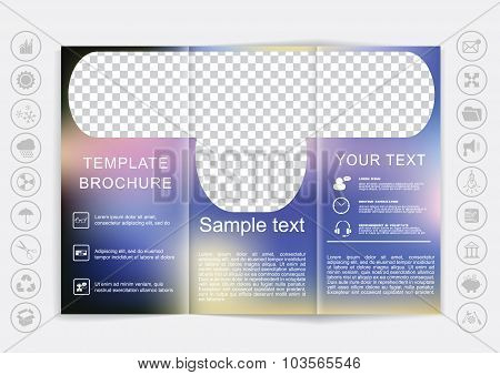 Tri-fold Brochure Mock Up Vector Design
