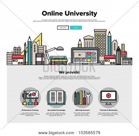 Internet Campus Flat Line Web Graphics
