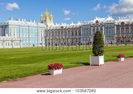 Catherine Palace - The Summer Residence Of The Russian Tsars. Tsarskoye Selo, Russia