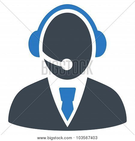 Call Center Worker Flat Icon