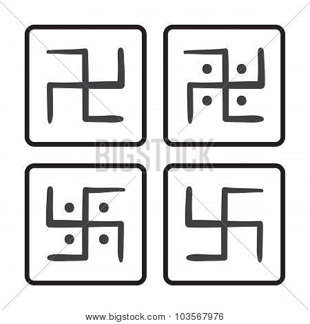 swastika hand drawn