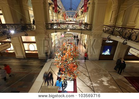Moscow - Sept 29: Inside Gum Department Store In Honor Of 120Th