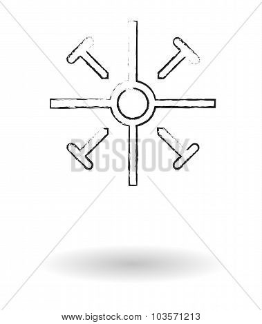 Coptic Cross Pencil Sketch