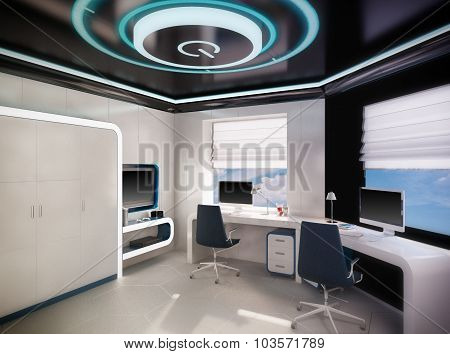 3D Illustration Of Children's Outer Space Theme