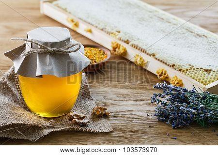 Glass Jar Full Of Honey