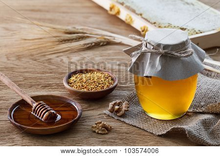 Honey Products And Rye Ears