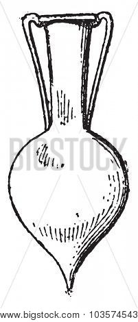 Roman glassware, vintage engraved illustration.