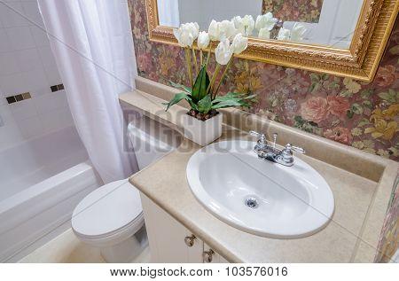 Fragment of a luxury bathroom