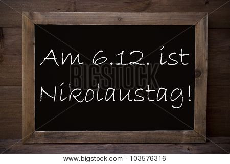 Chalkboard With Nikolaustag Means Nicholas Day