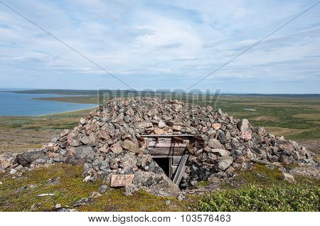 Ruins Of A Bunker From The Second World War In Arctic