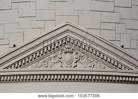 Art Deco exterior building wall