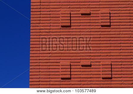Exterior brick building