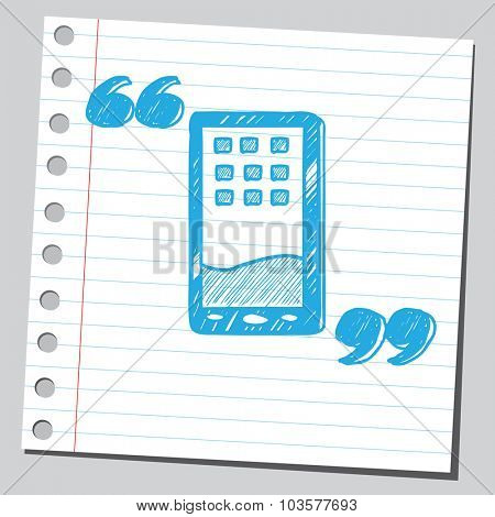 Cell phone in speech quotes