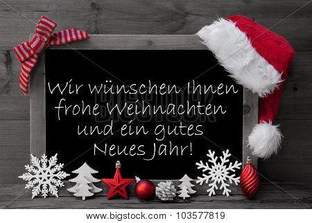 Blackboard Weihnachten Neues Jahr Mean Christmas Happy New Year