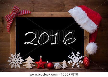 Brown Blackboard Santa Hat Christmas Decoration Text 2016