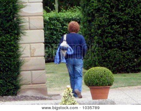 Woman Leaving Alone