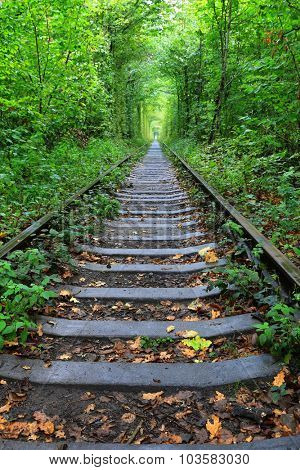 old railway road  in Klevan town, Ukraine