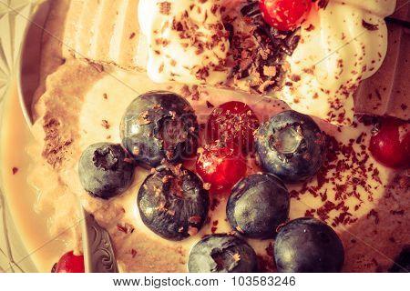 Ice Cream And Berry Fruit